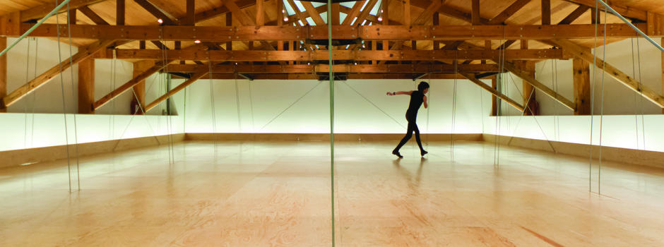4-Allora, Jennifer & Calzadilla, Guillermo-2010-Compass-Suspended wooden drop ceiling, dancers and six drawings-11.6 x 16 1-2 (29.7 x 42) SLIDE