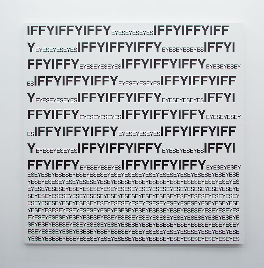 Untitled (IFFYIFFYEYESEYES), 2015 HP UV print on ultraflex true canvas 70.87 x 70.87 x 1.5 inches (180 x 180 x 3.8 cm)
